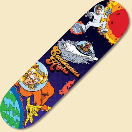 fly continuous highs skateboard deck