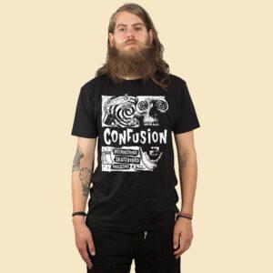 confusion vertigo t-shirt